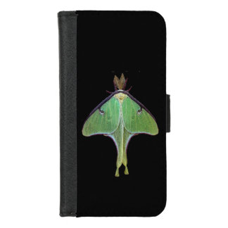 Capa Carteira Para iPhone 8/7 iPhone verde da traça de Luna 8/7 de caixa da
