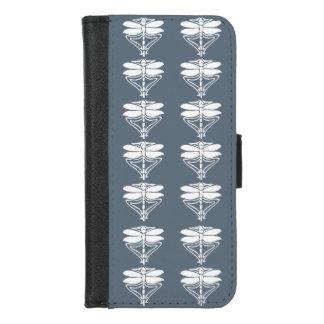 Capa Carteira Para iPhone 8/7 Libélulas azuis das artes e dos artesanatos de