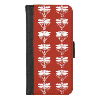 Capa Carteira Para iPhone 8/7 Libélulas das artes e dos artesanatos do tijolo