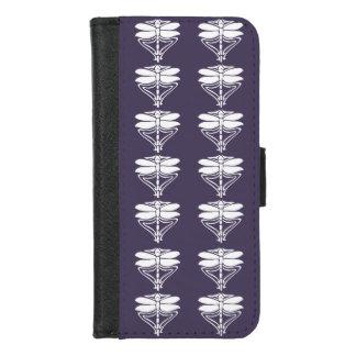 Capa Carteira Para iPhone 8/7 Libélulas roxas das artes e dos artesanatos do