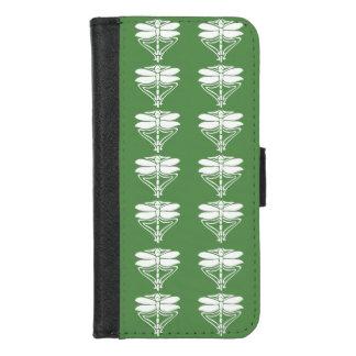 Capa Carteira Para iPhone 8/7 Libélulas verdes das artes e dos artesanatos do