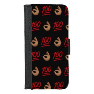Capa Carteira Para iPhone 8/7 Mantenha-o o iPhone 100 8/7 de caixa da carteira