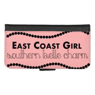 Capa Carteira Para iPhone 8/7 Menina da costa leste com encanto do sul do Belle