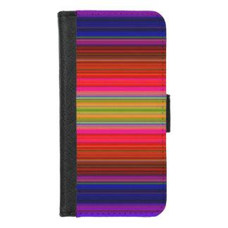 Capa Carteira Para iPhone 8/7 O arco-íris listra o iPhone do teste padrão 8/7 de