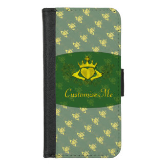 Capa Carteira Para iPhone 8/7 O Claddagh (ouro)