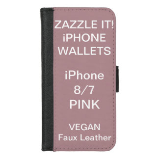 Capa Carteira Para iPhone 8/7 O costume personalizou o iPhone COR-DE-ROSA 8/7 de