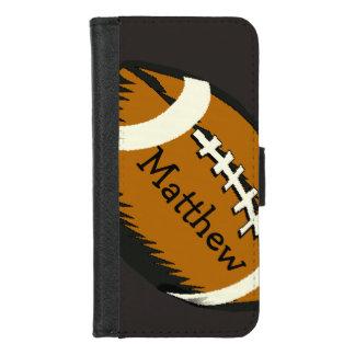 Capa Carteira Para iPhone 8/7 O futebol ostenta o iPhone de Brown 8/7 de caixa