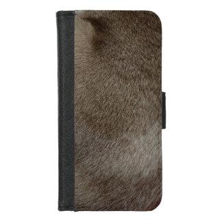 Capa Carteira Para iPhone 8/7 O olhar da pele luxuoso do gato Siamese do ponto