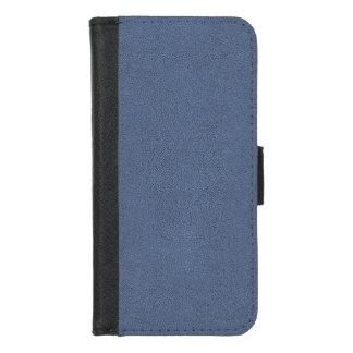 Capa Carteira Para iPhone 8/7 O olhar de confortavelmente Slate a textura azul