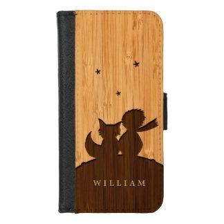 Capa Carteira Para iPhone 8/7 Olhar de bambu & príncipe pequeno gravado com Fox