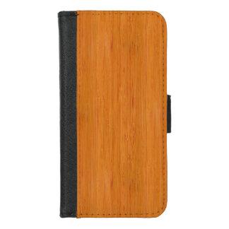 Capa Carteira Para iPhone 8/7 Olhar de madeira de bambu ambarino da grão