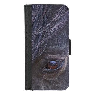 Capa Carteira Para iPhone 8/7 Olho de um mustang selvagem