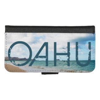 Capa Carteira Para iPhone 8/7 Ondas & praia de oceano de Oahu Havaí