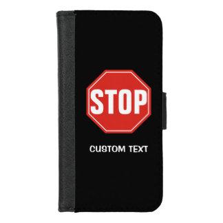 Capa Carteira Para iPhone 8/7 PARE o sinal