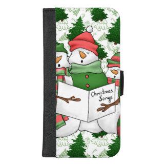 Capa Carteira Para iPhone 8/7 Plus 3 Carolers do boneco de neve