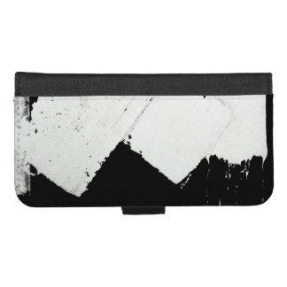 Capa Carteira Para iPhone 8/7 Plus A marcação do tráfego rodoviário do pavimento