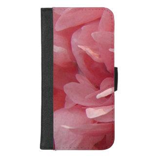 Capa Carteira Para iPhone 8/7 Plus A papoila cor-de-rosa floresce o iPhone 8/7 de