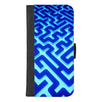 Capa Carteira Para iPhone 8/7 Plus Azul do labirinto