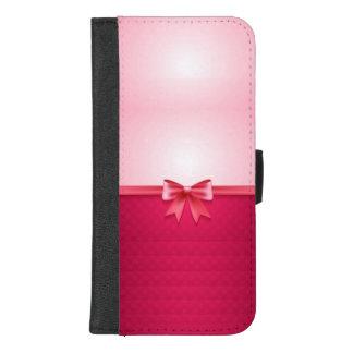 Capa Carteira Para iPhone 8/7 Plus Bonito no rosa