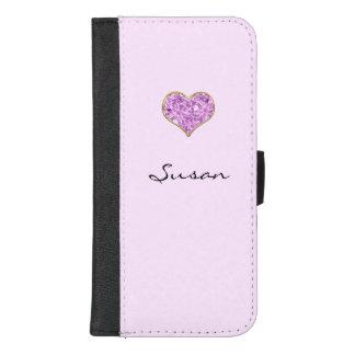 Capa Carteira Para iPhone 8/7 Plus Caixa cor-de-rosa da carteira do telefone móvel do