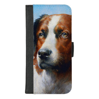 Capa Carteira Para iPhone 8/7 Plus Cão de St Bernard do vintage