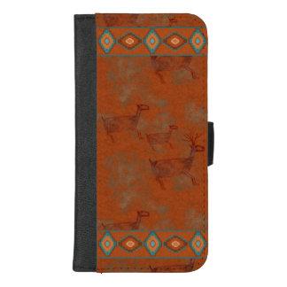 Capa Carteira Para iPhone 8/7 Plus Cervos das gargantas do sudoeste
