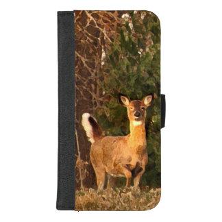 Capa Carteira Para iPhone 8/7 Plus Cervos no iPhone do nascer do sol 8/7 de caixa