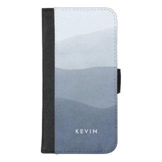 Capa Carteira Para iPhone 8/7 Plus Cinzas tranquilos modernas ao inclinação branco 3