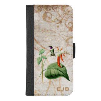 Capa Carteira Para iPhone 8/7 Plus Colibri de madeira da estrela