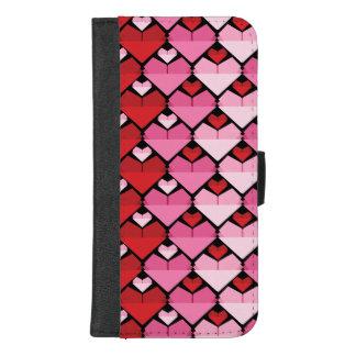 Capa Carteira Para iPhone 8/7 Plus Coração