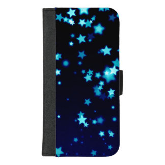 Capa Carteira Para iPhone 8/7 Plus Estrelas azuis