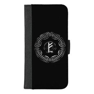 Capa Carteira Para iPhone 8/7 Plus ☼Fehu - Rune da sorte & do Prosperity☼