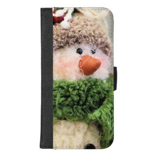 Capa Carteira Para iPhone 8/7 Plus Felpudo o boneco de neve