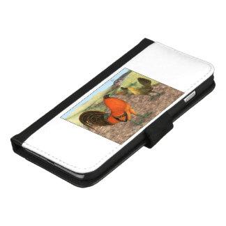 Capa Carteira Para iPhone 8/7 Plus Galinha de jogo na fazenda