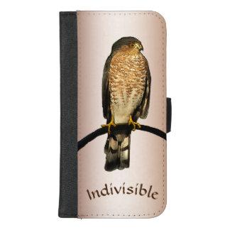 Capa Carteira Para iPhone 8/7 Plus Hawk o iPhone indivisível de Brown 8/7 de caixa