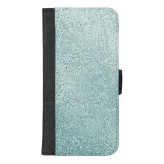 Capa Carteira Para iPhone 8/7 Plus Hortelã Ombre chamativo do Aqua