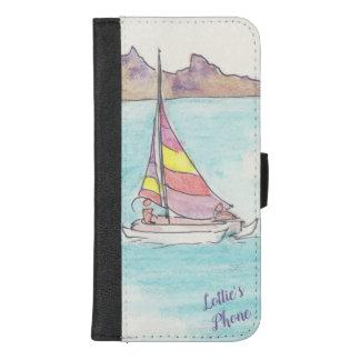 """Capa Carteira Para iPhone 8/7 Plus IPhone 8/7 de caixa de """"barco da carteira vela"""""""