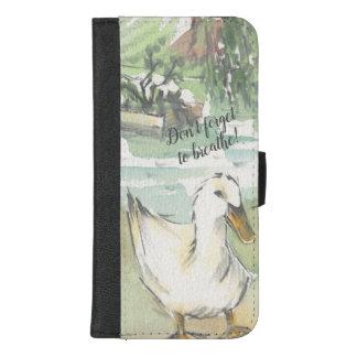 "Capa Carteira Para iPhone 8/7 Plus IPhone 8/7 de caixa ""pato da carteira na água"""