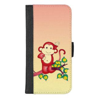 Capa Carteira Para iPhone 8/7 Plus iPhone animal do macaco vermelho 8/7 de caixa