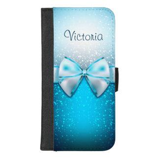 Capa Carteira Para iPhone 8/7 Plus iPhone azul moderno do brilho 8/7 de caixa