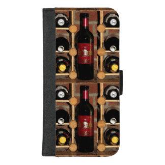 Capa Carteira Para iPhone 8/7 Plus iPhone da cremalheira do vinho 8/7 de caixa