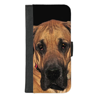 Capa Carteira Para iPhone 8/7 Plus iPhone do cão de great dane 8/7 de caixa positiva
