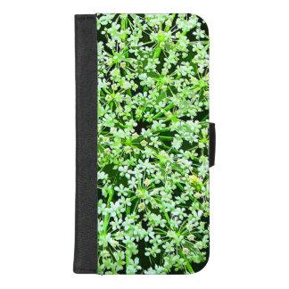 Capa Carteira Para iPhone 8/7 Plus iPhone do laço da rainha Annes 8/7 de caixa