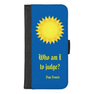 Capa Carteira Para iPhone 8/7 Plus iPhone do papa Francis Cotação 8/7 de caixa