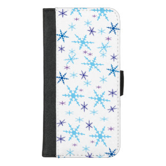 Capa Carteira Para iPhone 8/7 Plus iPhone dos flocos de neve 8/7 de caixa positiva da
