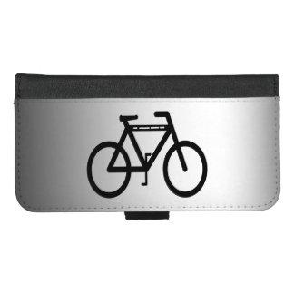 Capa Carteira Para iPhone 8/7 Plus iPhone preto do abstrato da bicicleta 8/7 de caixa
