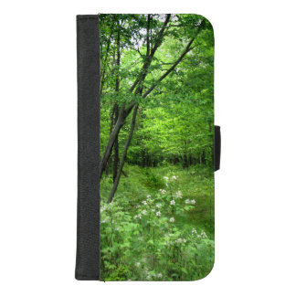 Capa Carteira Para iPhone 8/7 Plus iPhone verde da natureza da floresta 8/7 de caixa