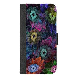 Capa Carteira Para iPhone 8/7 Plus Jardinagem do Fractal