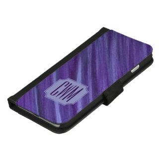 Capa Carteira Para iPhone 8/7 Plus Lilac violeta roxo do monograma indiferente da