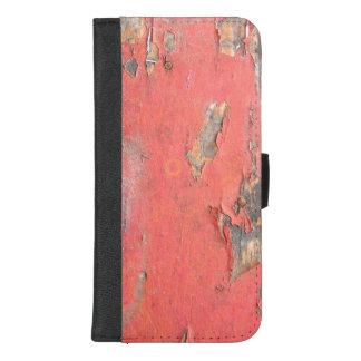 Capa Carteira Para iPhone 8/7 Plus Madeira vermelha do celeiro do vintage